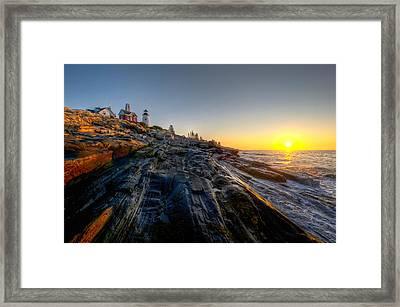 Sunrise At Pemaquid Point Framed Print