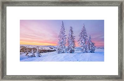 Sunrise At Powder Mountain Framed Print by Rory Wallwork