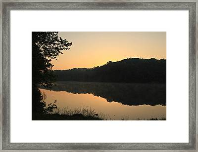 Sunrise At Rose Lake Framed Print
