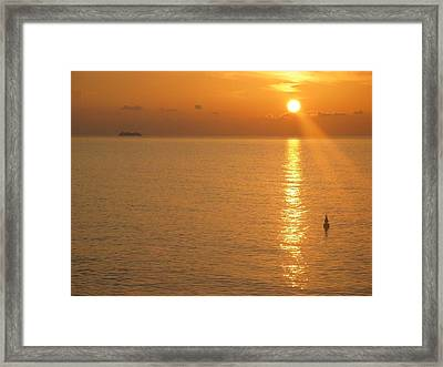 Framed Print featuring the photograph Sunrise At Sea by Photographic Arts And Design Studio