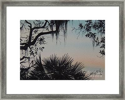 Sunrise At Shellmans Bluff Framed Print