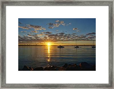 Sunrise At Shelter Island Framed Print
