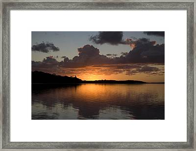 Sunrise At Smiths Lake Framed Print by Sandro Rossi