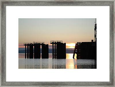 Framed Print featuring the photograph Southworth Ferry Pilling At Dawn by E Faithe Lester
