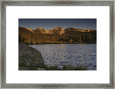 Sunrise At Spraque Lake Framed Print by Tom Wilbert