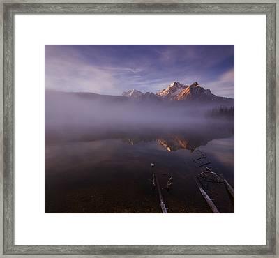 Sunrise At Stanley Lake Idaho Framed Print