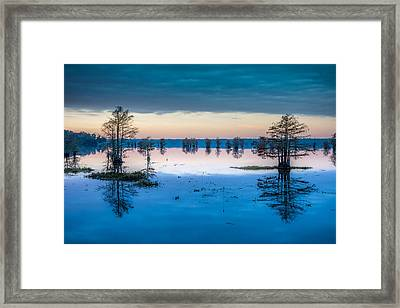 Sunrise At Steinhagen Reservoir Framed Print by David Morefield