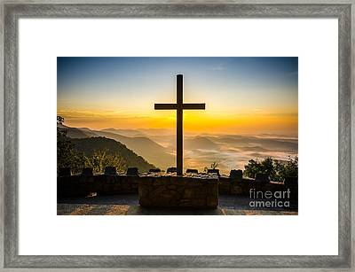 At The Center Of It All Framed Print