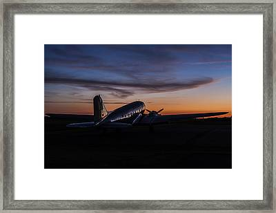 Sunrise At The Airport Framed Print