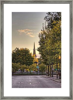 Sunrise At The End Of The Street Framed Print by Daniel Sheldon