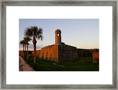 Framed Print featuring the photograph Sunrise At The Fort by Kathy Ponce
