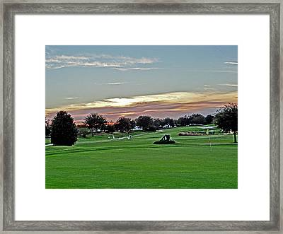 Sunrise At The Golf Course Framed Print by Dennis Dugan