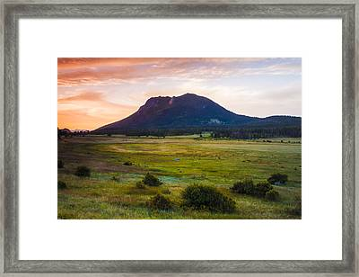 Sunrise At The Horseshoe Park Of The Colorado Rockies Framed Print
