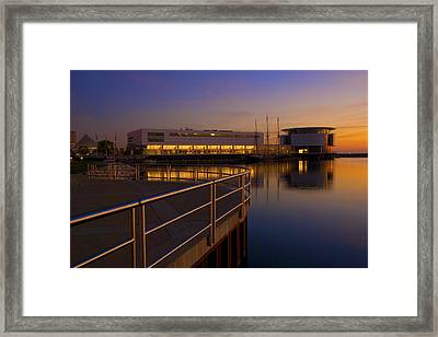Framed Print featuring the photograph Sunrise At The Lakefront by Jonah  Anderson