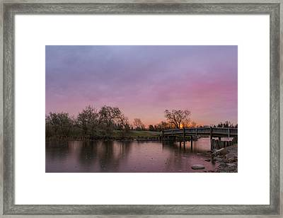 Sunrise At The Park Framed Print by Dwayne Schnell