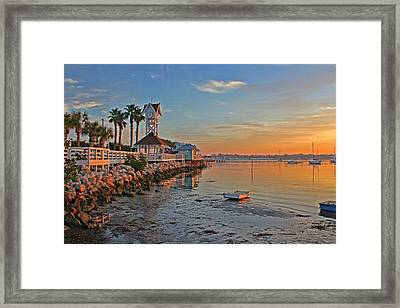 Sunrise At The Pier Framed Print by HH Photography of Florida