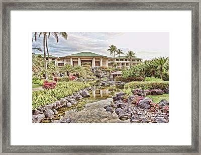 Sunrise At The Resort Framed Print by Scott Pellegrin
