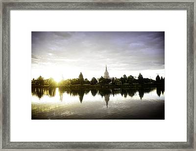 Sunrise At The River Framed Print by Image Takers Photography LLC - Carol Haddon