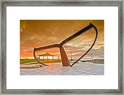 Sunrise At The Whale Tail Framed Print by Sally Nevin