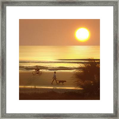 Sunrise At Topsail Island 2 Framed Print by Mike McGlothlen