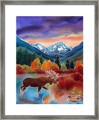 Sunrise At Two Medicine Lake Framed Print by Harriet Peck Taylor