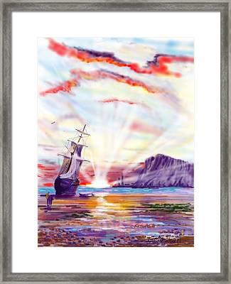 Sunrise At Whitby Framed Print