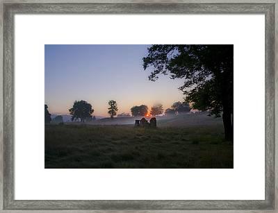 Sunrise At Whitemarsh Framed Print