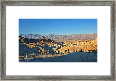 Framed Print featuring the photograph Sunrise At Zabriskie Point - Death Valley by Dana Sohr