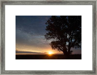 Sunrise Awaited Framed Print by Shirley Heier