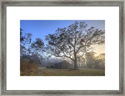 Sunrise Barn Framed Print by Steve Caldwell