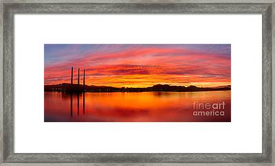 Sunrise Bay Framed Print by Alice Cahill