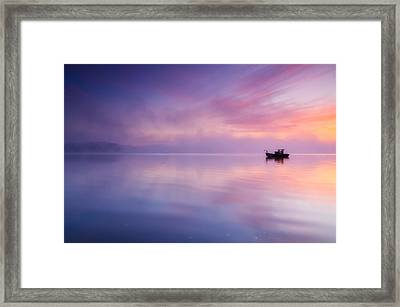 Sunrise Bay Framed Print