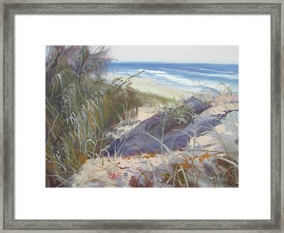 Sunrise Beach Dunes Sunshine Coast Qld Australia Framed Print