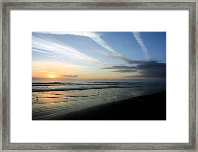 Sunrise Beach Framed Print