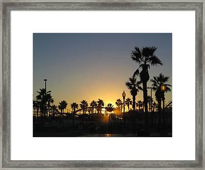 Sunrise Belmont Park San Diego 1 Framed Print