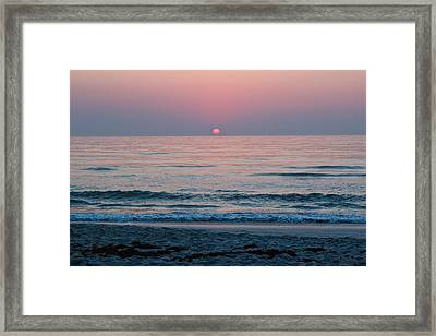 Sunrise Blush Framed Print