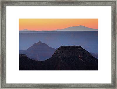 Sunrise, Bright Angel Point, North Rim Framed Print by Michel Hersen