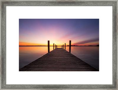 Sunrise Cafe Framed Print