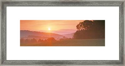 Sunrise Caledonia Vt Usa Framed Print by Panoramic Images