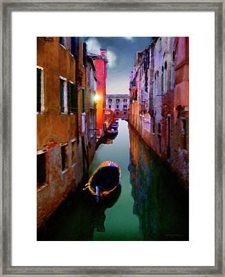 Sunrise Canal Framed Print