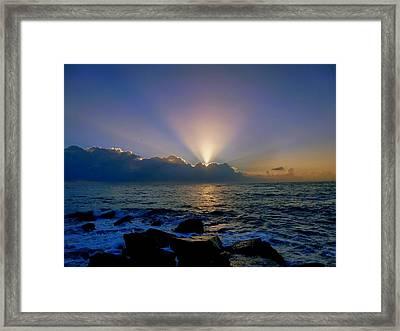 Sunrise City 1 Framed Print