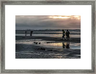 Sunrise Clam Tide Framed Print by Nichon Thorstrom