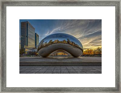 Sunrise Cloud Gate Framed Print