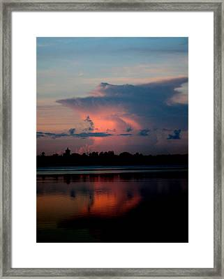 Sunrise Cloud Reflection Framed Print by Diane Merkle