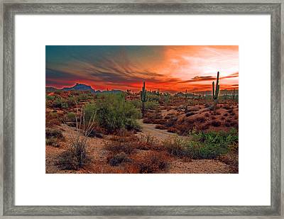 Sunrise Cocktail Framed Print