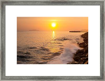 Sunrise Colors - San Francisco Bay Framed Print by David Yu