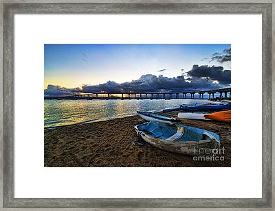 Sunrise - Coronado Bridge Framed Print by Peter Dang