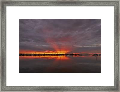 Sunrise Cove Framed Print