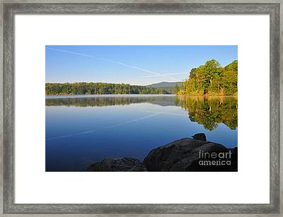 Sunrise Cross Framed Print