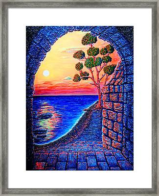 Sunrise Custle Framed Print by Viktor Lazarev